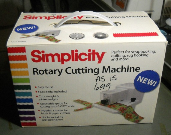simplicity rotary cutting machine instructions