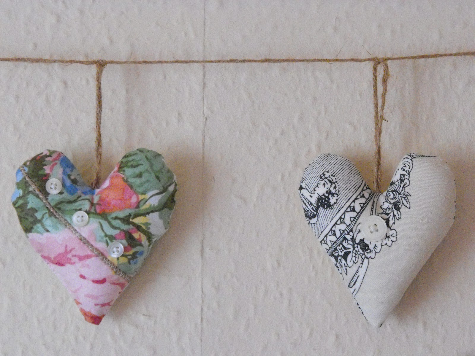 A few of Amy's favourite things   : hearts, buttons, ribbons