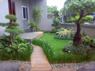 gambar desain taman minimalis depan rumah | Sentosa garden