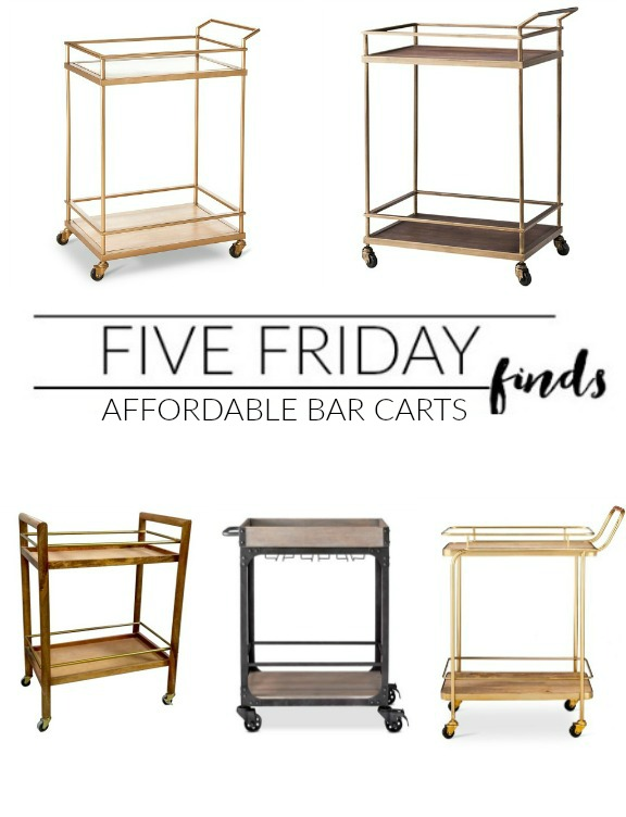 Affordable and Stylish Bar Carts under $160.00!