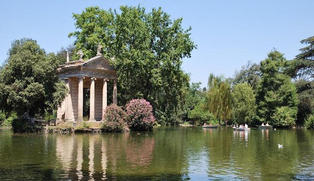 Jardins da Villa Borghese em Roma