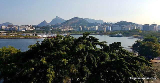 Corcovado visto do Hotel Prodigy Aeroporto Santos Dumont