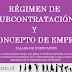 Concepto de Empresa - Subcontratación - Unificación Laboral