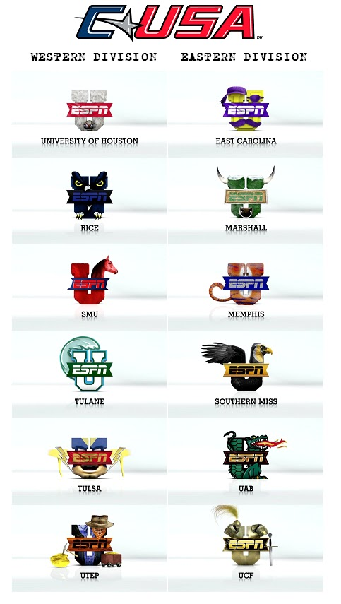 Red And Blue Army: Conference USA ESPNU Mascots