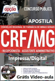 Apostila PDF CRF/MG Assistente Administrativo (Download Testes)