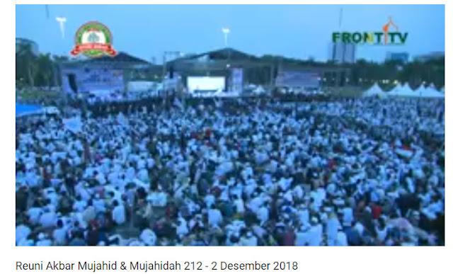 Saksikan Siaran Langsung Eksklusif FrontTV Reuni Akbar 212