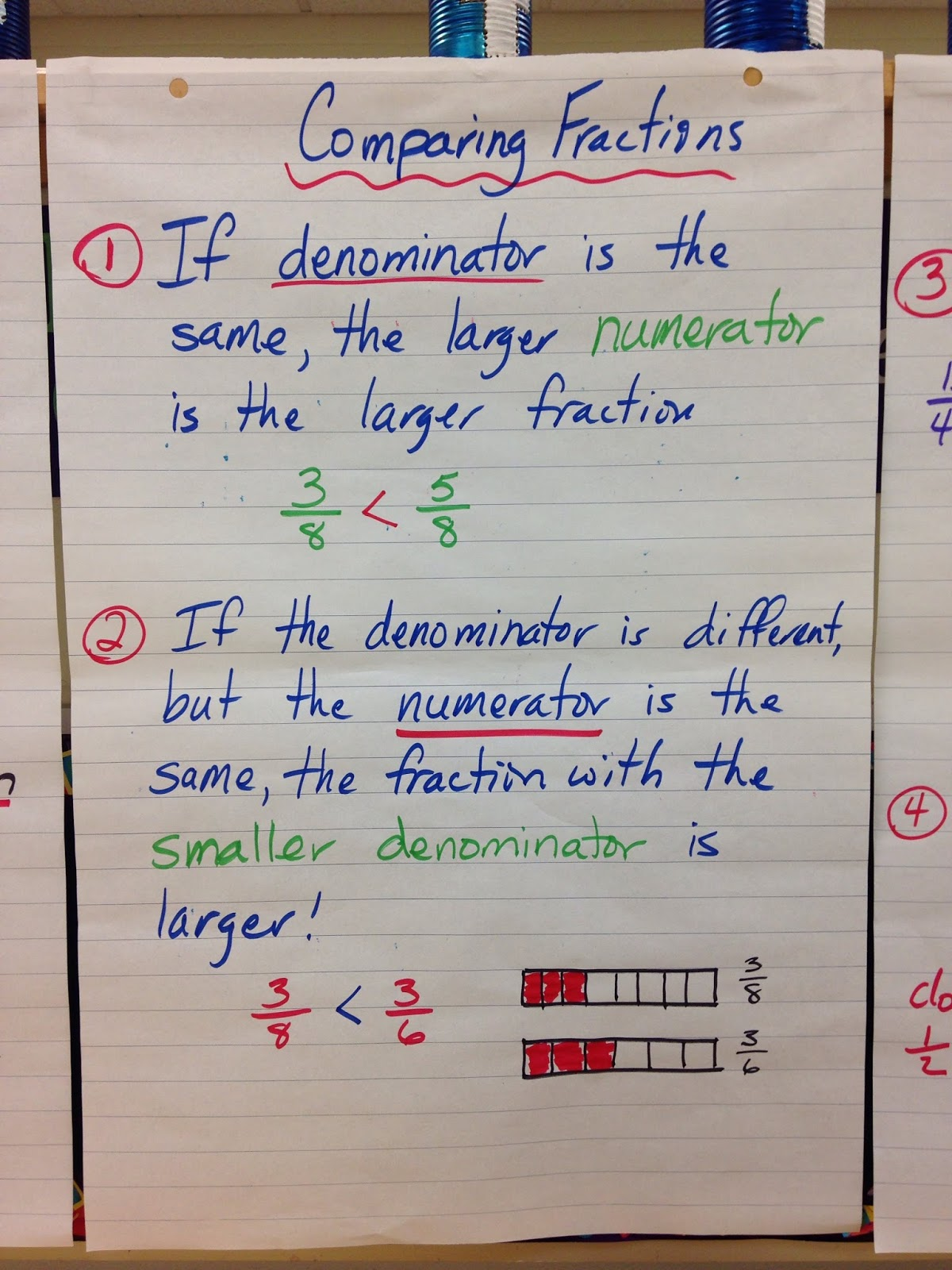 mr. pouliot's classroom blog: comparing and ordering fractions