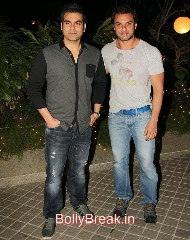 Arbaaz and Sohail Khan, Bollywood Celebrities At Farah Khan's GRAND 50th Birthday Party