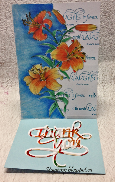 http://www.yogiemp.com/HP_cards/MiscChallenges/MiscChallenges2019/Apr19_EaselDayLilies_ECDThankYou_TheEarthLaughs.html