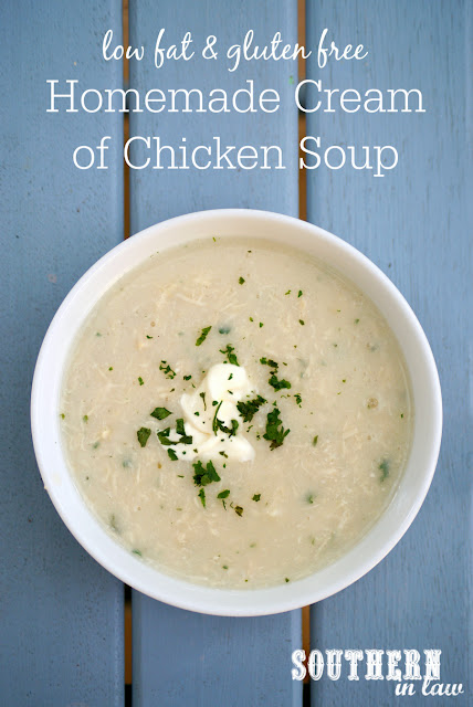 Healthy Homemade Cream of Chicken Soup Recipe - gluten free, low fat, clean eating, copycat recipe, healthy, low calorie soup recipes