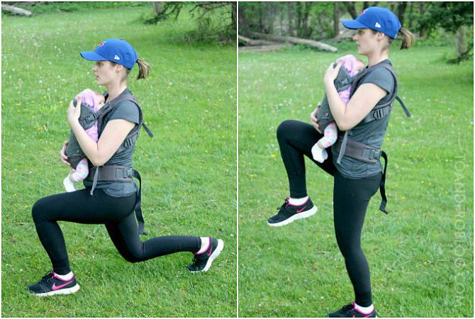4 Baby-Wearing Leg Exercises