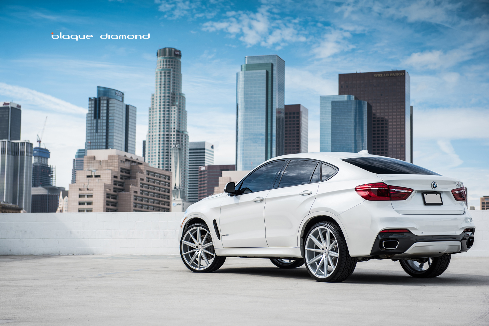 2016 Bmw X6 Fitted With 24 Inch Bd 9 S In Silver Polished