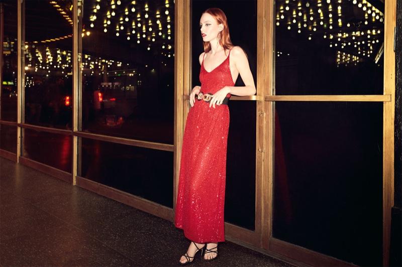 Kiki Willems looks red-hot in Zara High Voltage spring-summer 2019 editorial