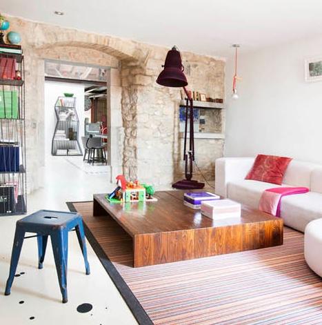 Una casa de piedra con un look muy vintage chicanddeco