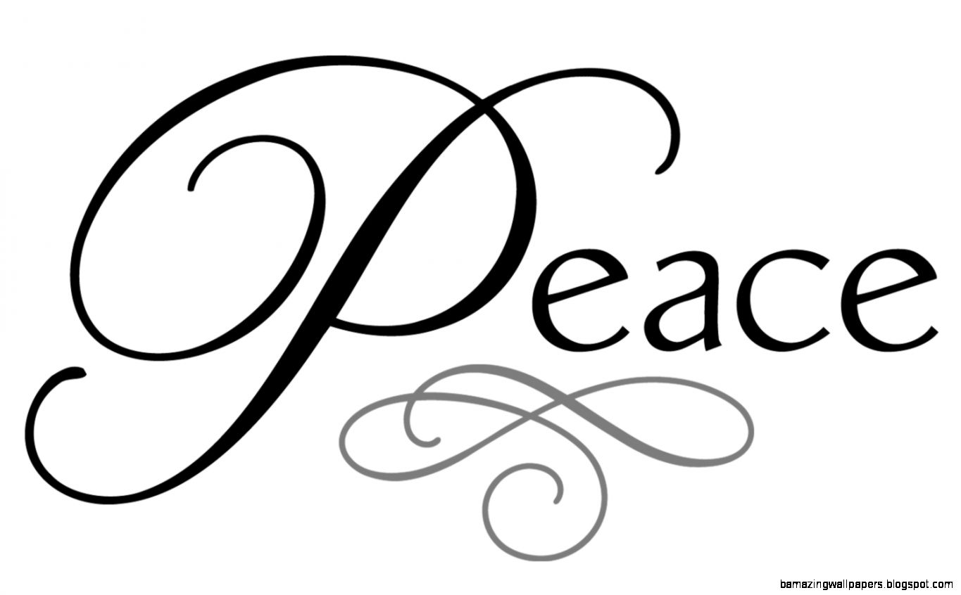 The Word Peace In Cursive
