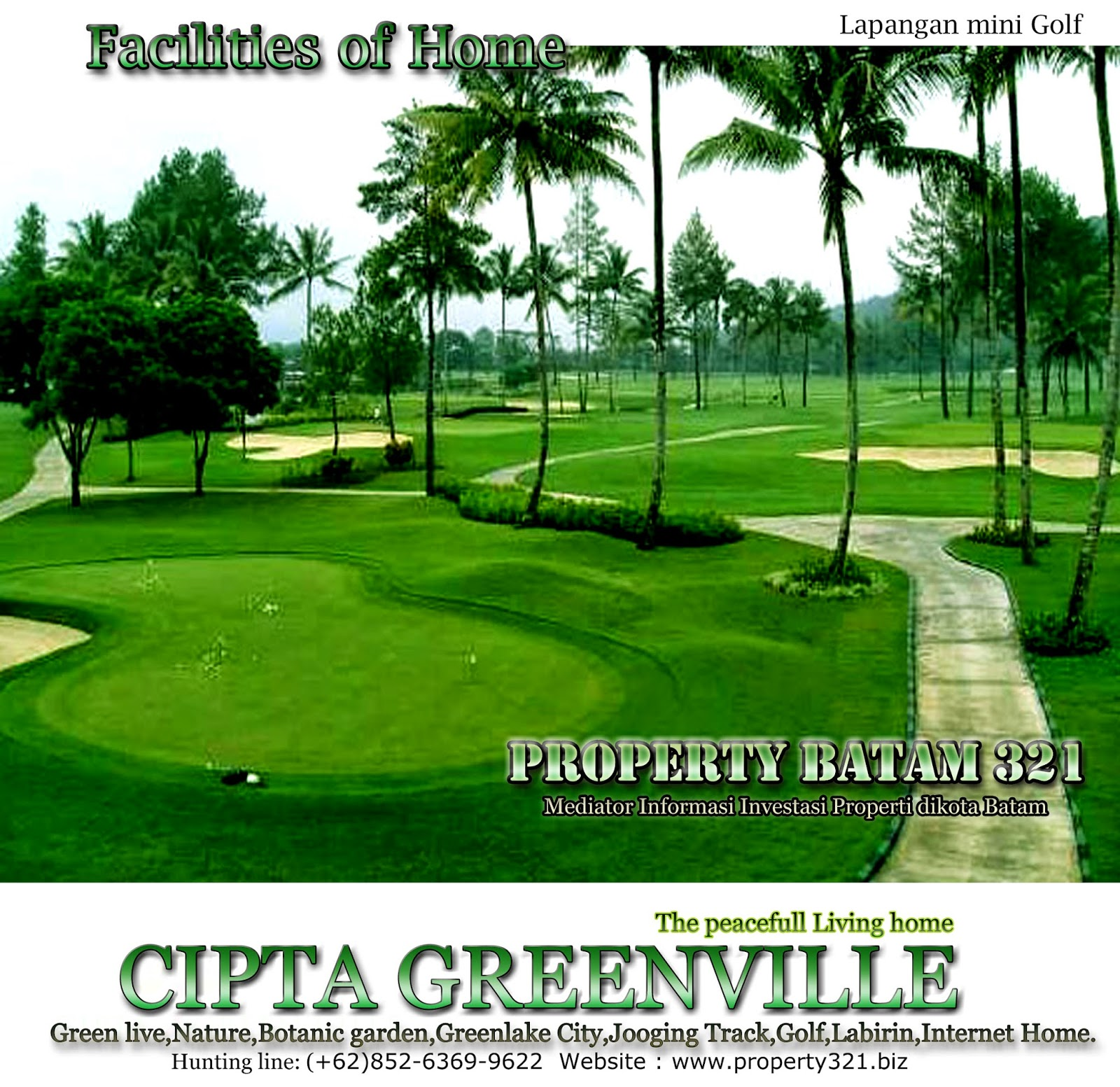 Lapangan Golf mini Cipta greenville batam.