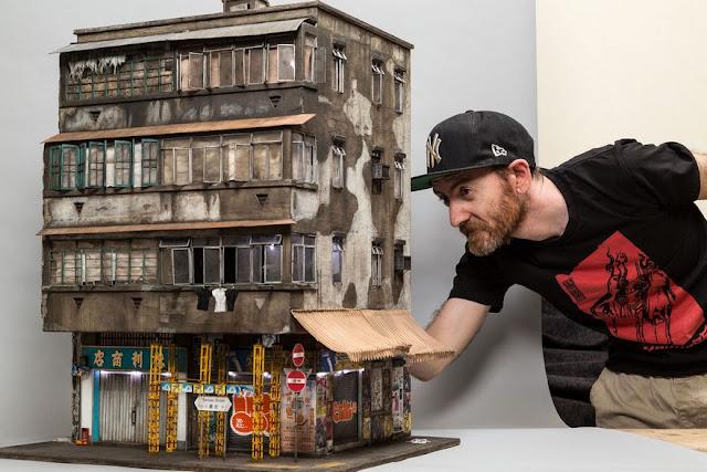 Fascinante edificio en miniatura con un nivel de detalle impresionante