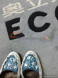Vẽ giày với màu acrylic 3D - Tác phẩm của chị Biêng Biếc
