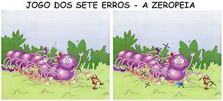 Jogo dos sete erros - Livro A ZEROPEIA resolvido