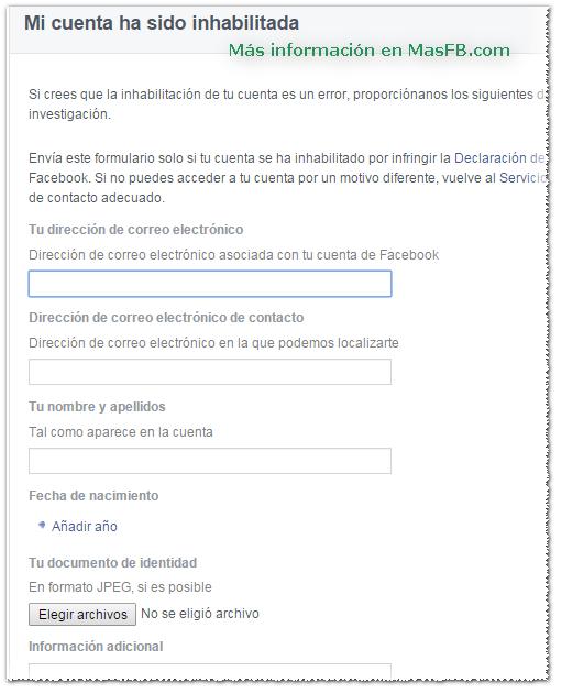 Recuperar cuenta de Facebook - MasFB