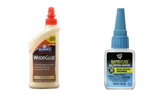 Wood glue and rapid fuse all purpose glue