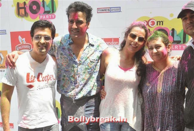 Sachin Shroff, Karan Oberoi, Pooja Bedi and Juhi Parmar, Sunny, Tanisha, Poonam & Kainaat at Zoom Holi Party 2014
