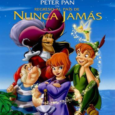 Imagen de Peter Pan de portada de Un regreso al país de Nunca Jamás