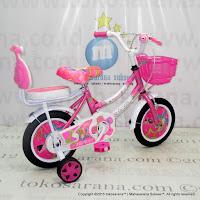Sepeda Anak Perempuan Erminio 2401 Girl n Star 12 Inci