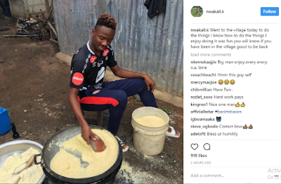 "<img src="" Arsenal-FC-player,-Nwakali-Kelechi-shares-photo-of himself-frying-garri-in-his-home-town .gif"" alt="" Arsenal FC player, Nwakali Kelechi shares photo of himself frying garri in his home town > </p>"