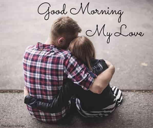 good morning romantic couple