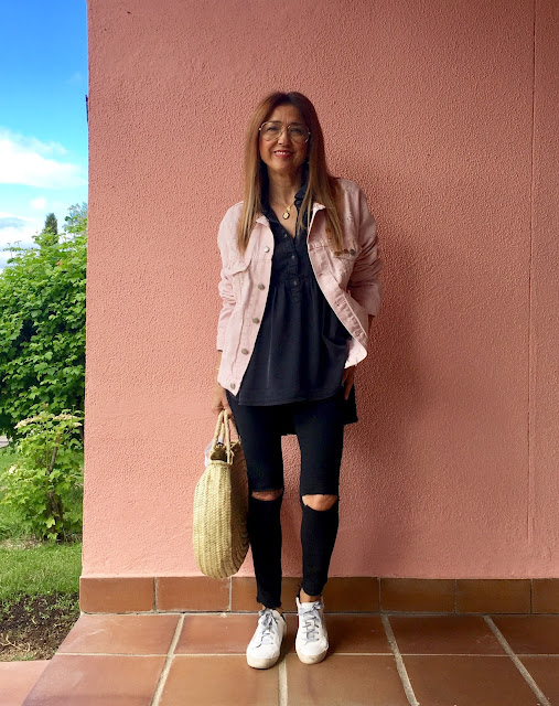 Street Style, Carmen Hummer, Denim, Rosa, Tendencias, Look, Summer, 2017, Blogger, Influencer