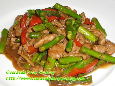 Pork and Asparagus with Oyster Sauce Stirfry Recipe
