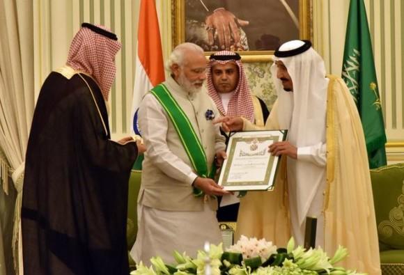 पीएम मोदी को सउदी अरब का सर्वोच्च नागरिक सम्मान