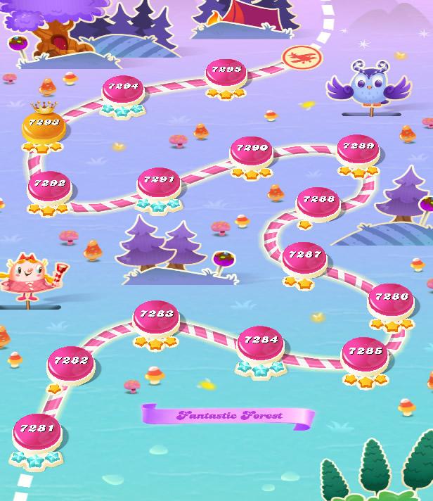 Candy Crush Saga level 7281-7295