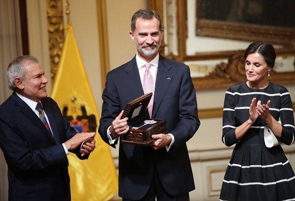 Queen Letizia, along with Maribel Carmen Díaz and MInister Ana María Mendieta visited 333 Women Emergency Center