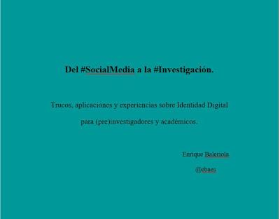 Social Media, Redes Sociales, Identidad Digital, Investigación, Academia