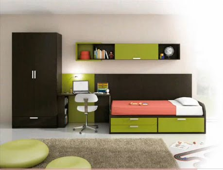 Dormitorios para jovenes varones young man s bedroom by for Habitaciones compactas