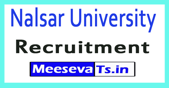 Nalsar University Recruirment