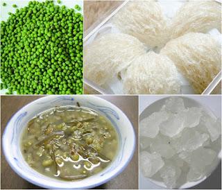 Nguyên liệu nấu chè tổ yến đậu xanh