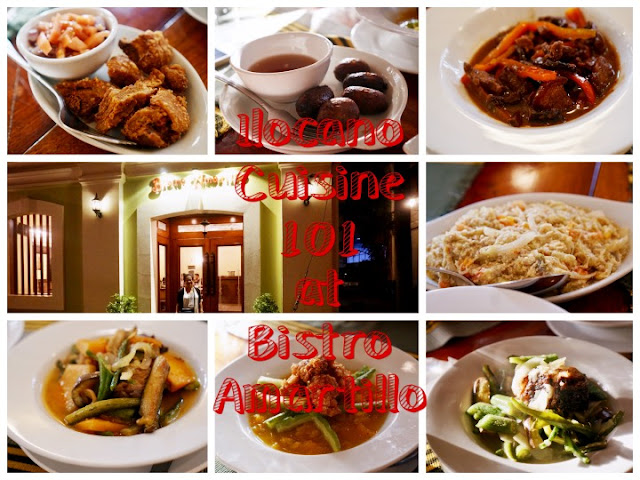 Ilocano Cuisine, ilocano dishes, Bistro Amarillo, Hotel Salcedo de Vigan, Best Restaurants in Ilocos, Bagnet with KBL, Bagnet, Dinoydoy, poqui-poqui, igado, boridibod, vigan longganisa, Pinakbet,