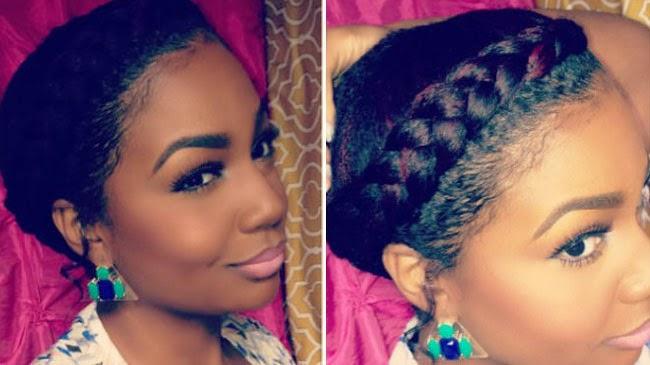 Awesome Goddess Braid Medium Length Natural Hair Style Curlynikki Short Hairstyles Gunalazisus