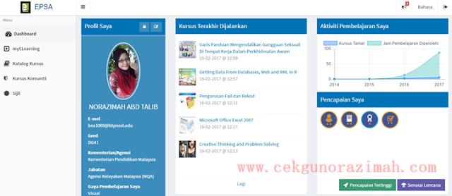 epsa, kursus online percuma,e-pembelajaran sektor awam, kursus online epsa