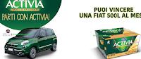 Logo Activia: vinci 3 Fiat 500 Lounge