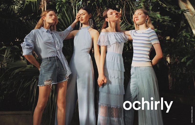 Lorena Maraschi, Polina Oganicheva, Jess PW and He Cong front Ochirly summer 2019 campaign