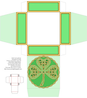Shamrock printable box for Saint Patrick's Day