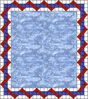 image caption  THE BAG LADY FROM THE BAY  Entwined Quilt BorderQuilt Border Clipart