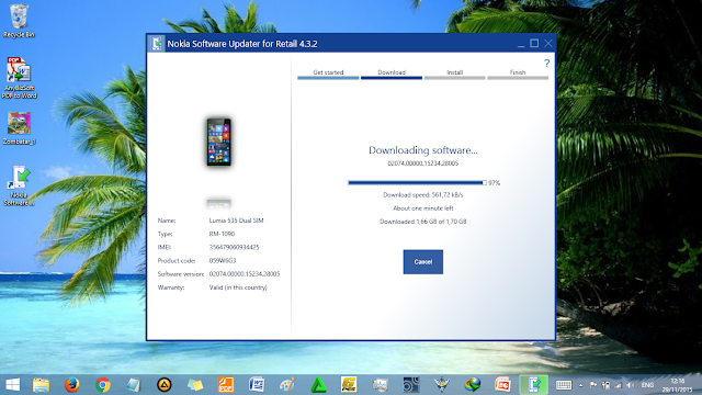Nokia Software Updater untuk Roll Back ke Win 8.1