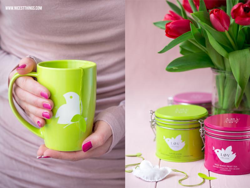 Teebeutel nähen Oster DIY Vögelchen Hände mit Teebecher Lov Organic