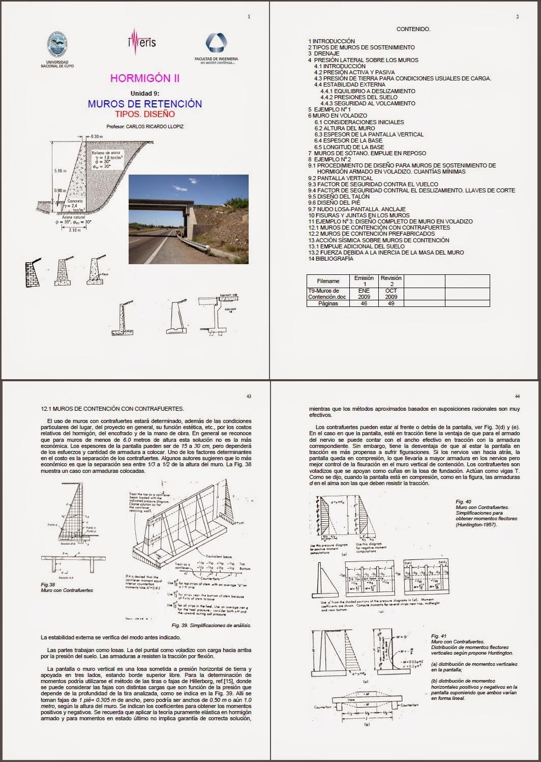 Muros de retencion tipos diseño