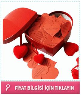 kalp kutu içinde 365 aşk mesajı
